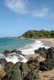 Vieques na plaży zdjęcia stock