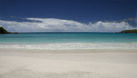 Viequez beach looking out royalty free stock photography