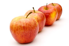 Vier Äpfel. Lizenzfreies Stockfoto
