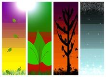 Vier 4 seizoenen van de de zomerdaling van de jaarlente wint Royalty-vrije Stock Foto