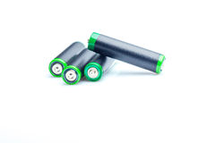 Vier AA-Batterien Lizenzfreie Stockfotografie