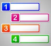 Vier aantallenbanners Royalty-vrije Stock Afbeeldingen