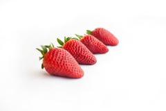 Vier aardbeien Stock Afbeelding