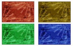 Vier abstracte achtergronden Royalty-vrije Stock Afbeeldingen
