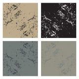 Vier abstracte achtergronden Stock Afbeeldingen