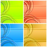 Vier abstracte achtergronden. Royalty-vrije Stock Foto's