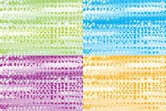 Vier Abstracte achtergronden van de Textuur Royalty-vrije Stock Afbeelding