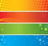 Vier abstracte banners Royalty-vrije Stock Afbeeldingen