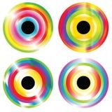 Vier abstracte cirkels Stock Foto