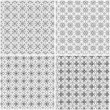 Vier abstracte naadloze patronen Royalty-vrije Illustratie