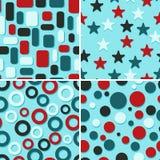Vier abstracte patronen Stock Afbeelding