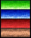 Vier Abstracte Webbanner Stock Fotografie
