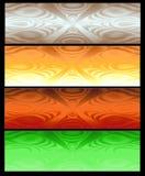 Vier Abstracte Webbanner Royalty-vrije Stock Afbeelding
