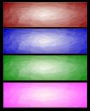Vier Abstracte Webbanner Stock Afbeelding