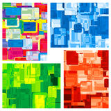Vier abstrakte Farbhintergründe Stockfotos