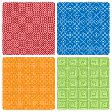 Vier abstrakte nahtlose Muster lizenzfreie abbildung