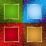 Vier Achtergronden van de Vakantie van de Kleur Stock Illustratie