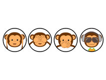 Vier Affen vektor abbildung