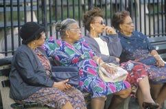 Vier Afrikaans-Amerikaanse vrouwen Stock Foto