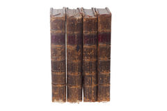 Vier alte Bücher Stockbilder