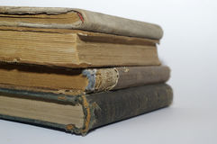 Vier alte Bücher Lizenzfreie Stockbilder