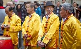 Vier alte Männer stockbild