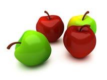 Vier appelen Royalty-vrije Stock Afbeelding