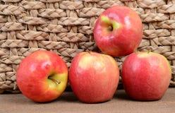 Vier appelen royalty-vrije stock afbeeldingen