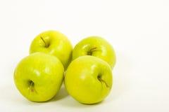 Vier appelen Stock Foto's