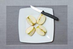 Vier appelstukken Stock Foto's
