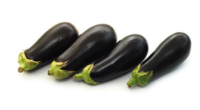 Vier aubergines Stock Foto