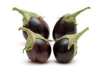 Vier aubergines Royalty-vrije Stock Afbeelding