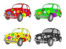 Vier Autos Stockbild