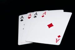 Vier Azen Royalty-vrije Stock Afbeelding