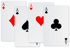 Vier azenkaart Royalty-vrije Stock Fotografie