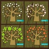 Vier Bäume Lizenzfreies Stockfoto