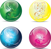 Vier ballen Royalty-vrije Stock Foto