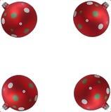 Vier Ballen van de Kerstboom Stock Fotografie