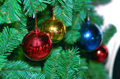 Vier Ballen van Kerstmis Stock Afbeelding