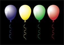 Vier Ballons Stock Foto's