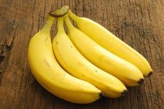 Vier bananen Royalty-vrije Stock Afbeelding