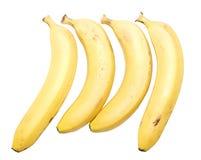 Vier bananen stock afbeelding