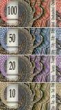 Vier bankbiljetten Royalty-vrije Stock Afbeelding