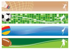 Vier banners. Sport royalty-vrije illustratie