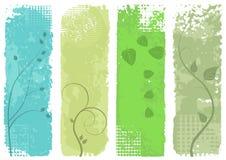 Vier banners - vectorreeks Royalty-vrije Stock Afbeelding