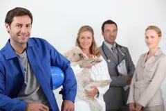 Vier beroeps Royalty-vrije Stock Foto