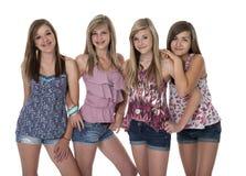 Vier Beste Meisjes stock foto's