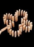 Vier Blatt-Klee-Muster Stockbilder