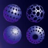 Vier blauwe ballen Vector illustratie royalty-vrije illustratie