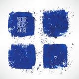 Vier blauwe slagachtergronden Royalty-vrije Stock Afbeelding